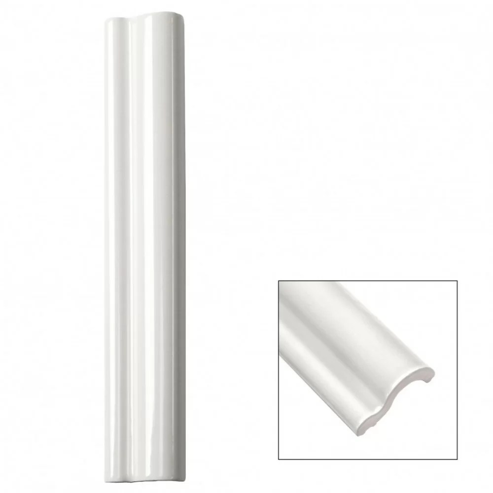 catalina 12 x 2 ceramic quarter round tile trim in white