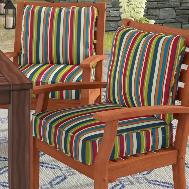 deep outdoor seat back cushion