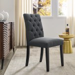Red Barrel Studio Venlo Tufted Linen Dining Chair