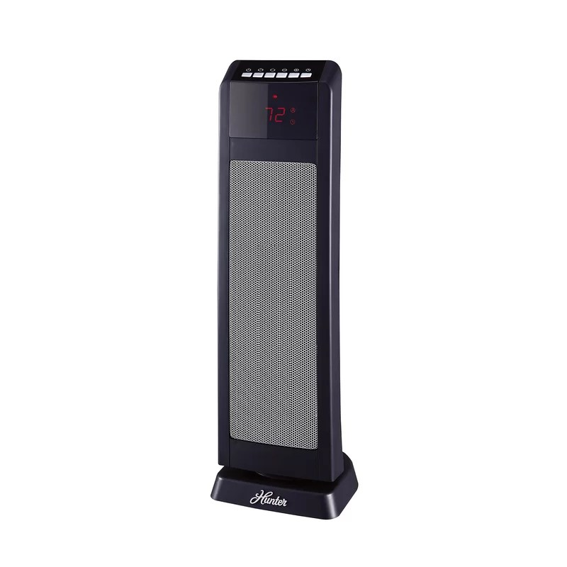Digital 1,500 Watt Electric Fan Tower Heater with Remote Control