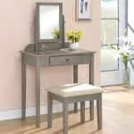 Gray Makeup Vanities Free Shipping Over 35 Wayfair