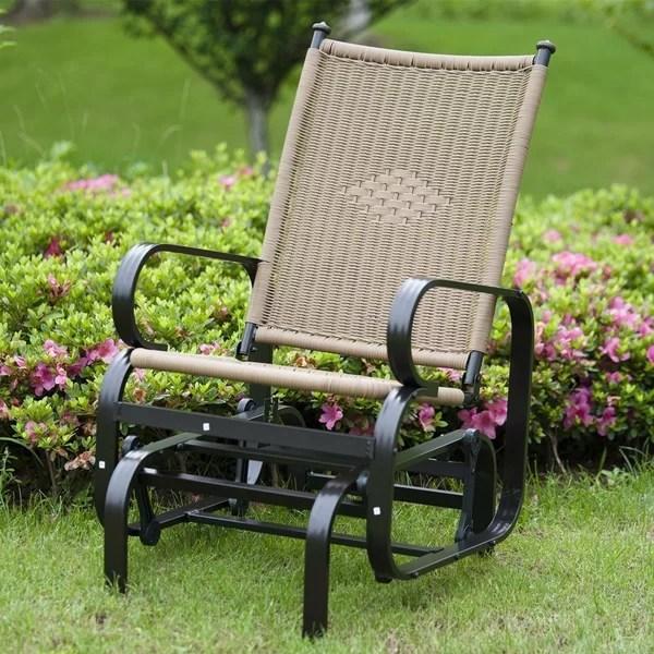 outdoor wicker glider