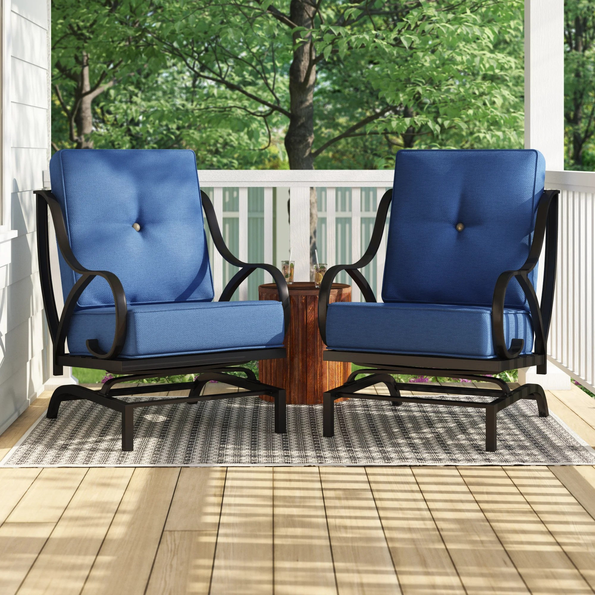 reid outdoor rocking motion patio chair with cushions