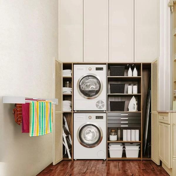 wall mounted towel drying rack