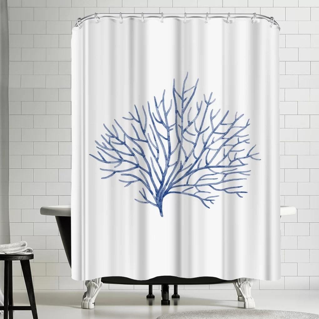 nauda coral shower curtain