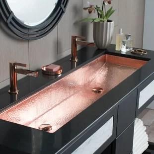 trough metal rectangular trough bathroom sink