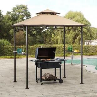 bayamo 8 ft w x 5 ft d steel grill gazebo gazebo
