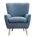 Maidi Mid Century Modern Fabric Accent Chair Blue Wayfair