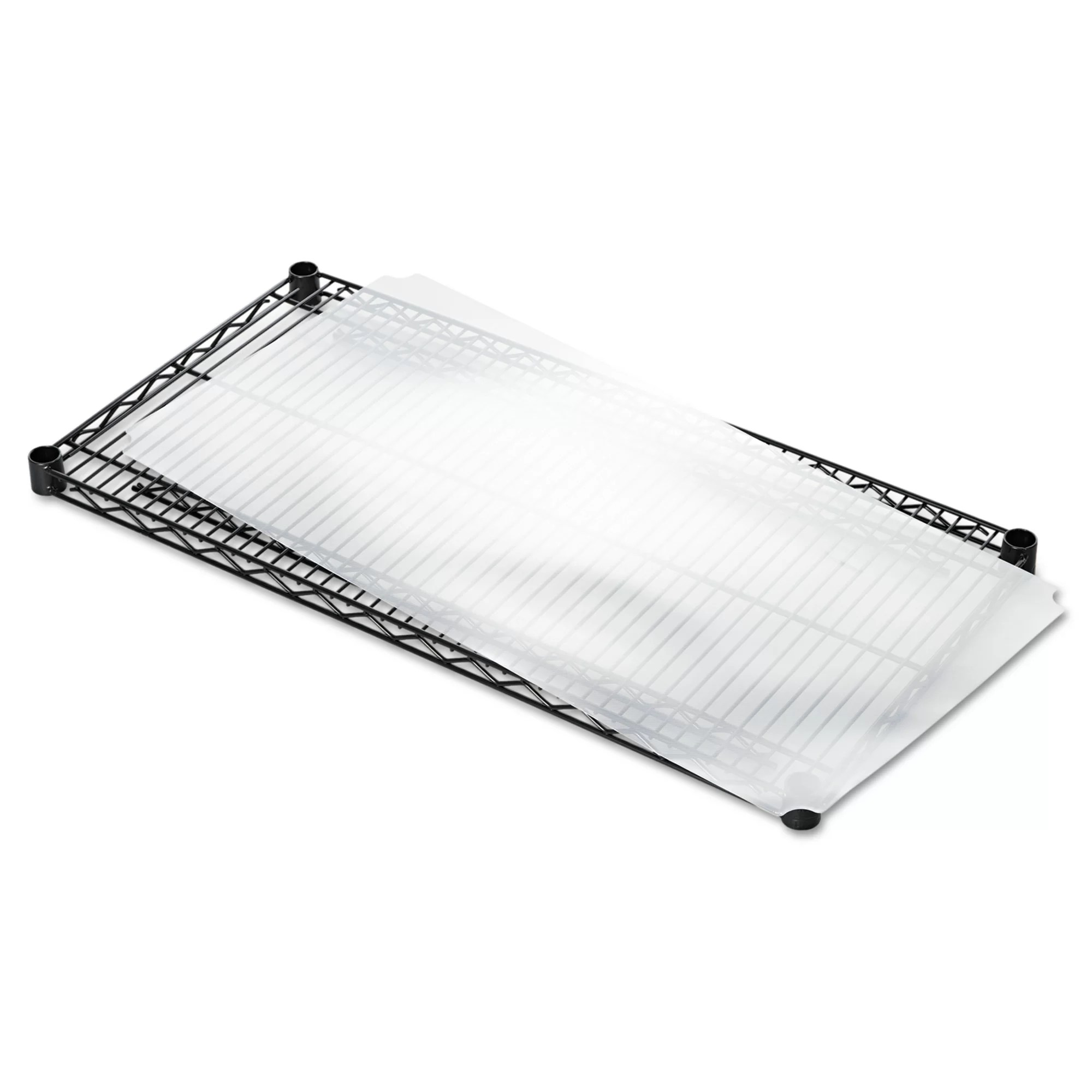 36 w x 18 d shelf liners for wire shelving in clear plastic