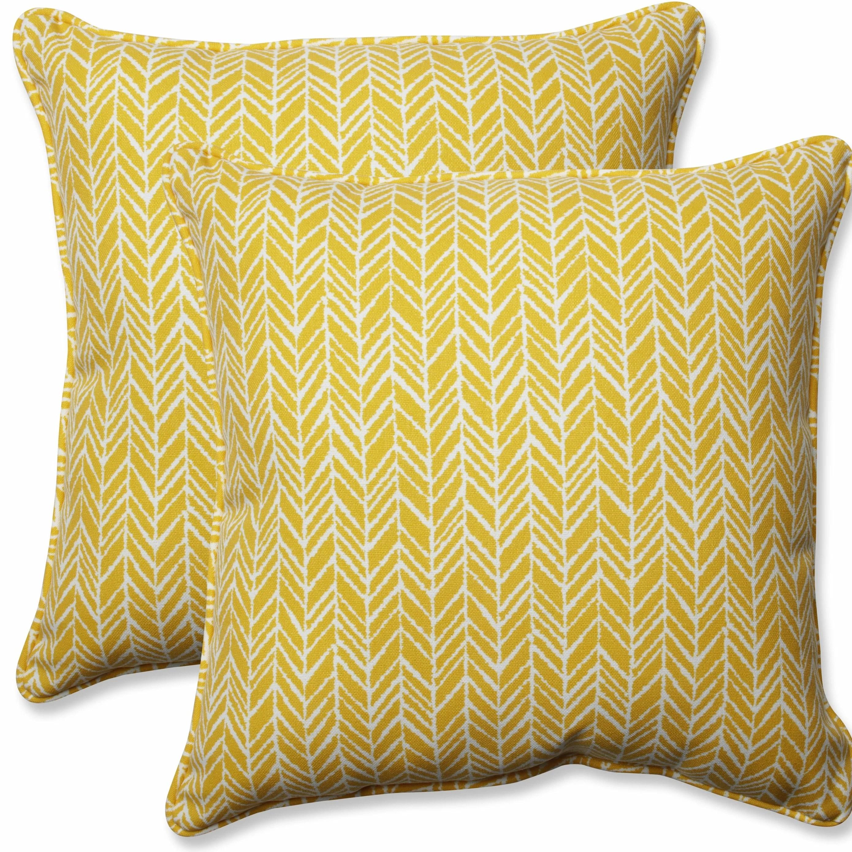 herringbone indoor outdoor throw pillow