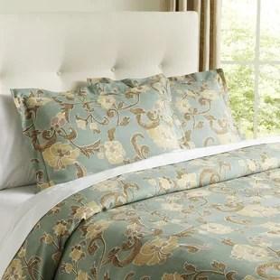 nature floral pillow shams