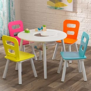 storage kids 5 piece writing table and chair set