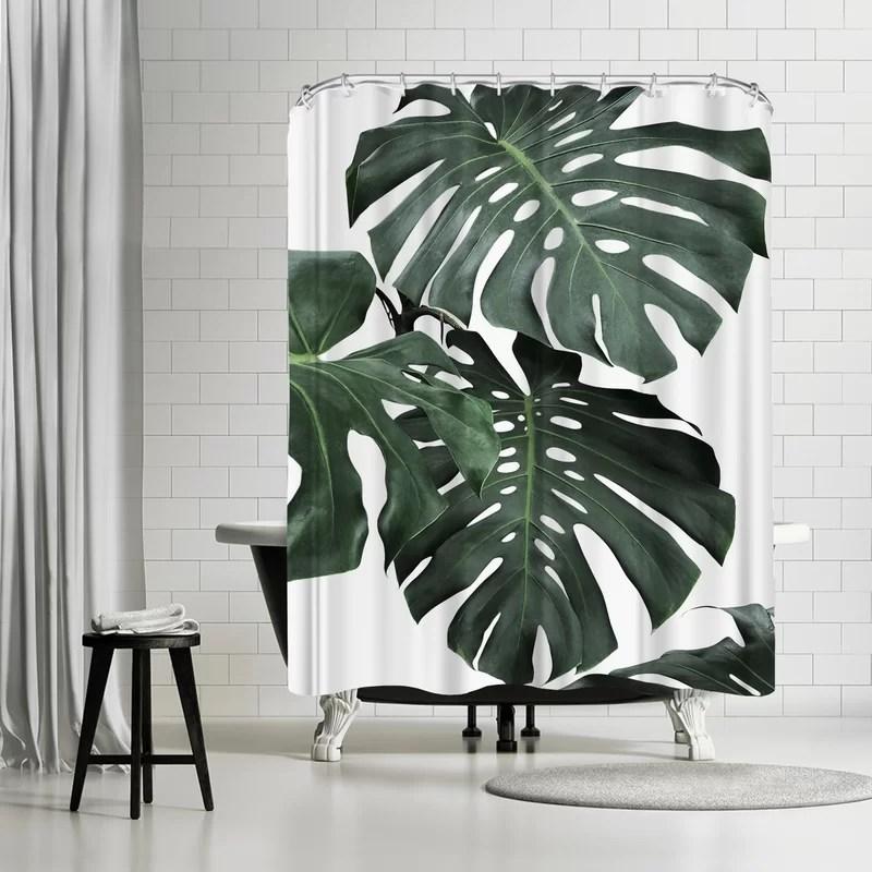 sisi and seb monstera jungle single shower curtain