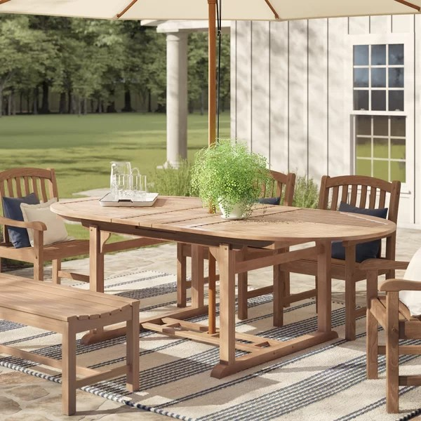 Of furniture designers, as well as scouring hundreds of reviews for sets. Birch Lane™ Summerton Extendable Teak Dining Table ...