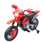 Aosom Kids Electric Battery Powered Ride On Dirt Bike Toy With Training Wheels Reviews Wayfair