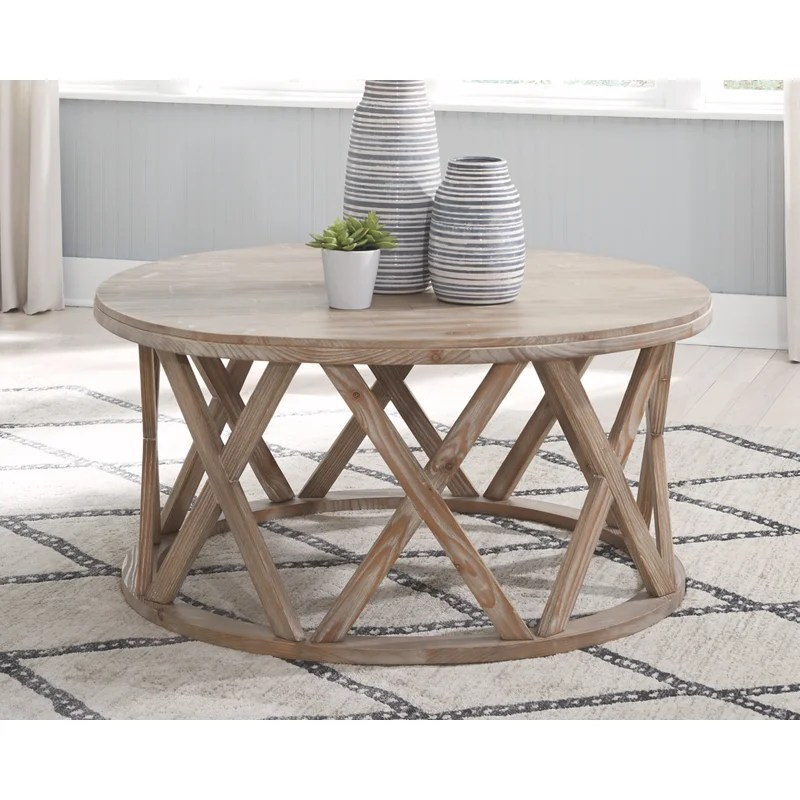 sparr solid wood frame coffee table