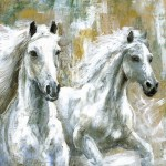 Union Rustic Wild Horses Painting Print On Wrapped Canvas Reviews