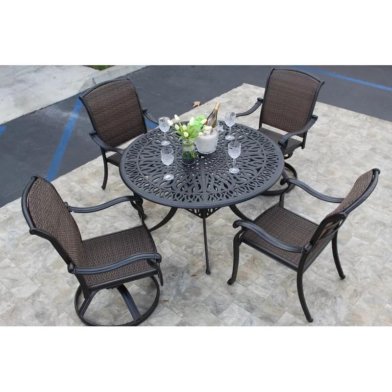 loftus round 4 person 48 long dining set