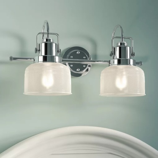 Beachcrest Home Gotha 2 Light Vanity Light   Reviews   Wayfair Gotha 2 Light Vanity Light