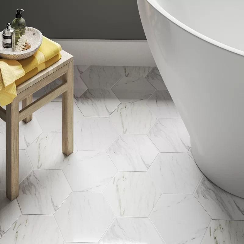 marbre 9 x 10 porcelain stone look wall floor tile