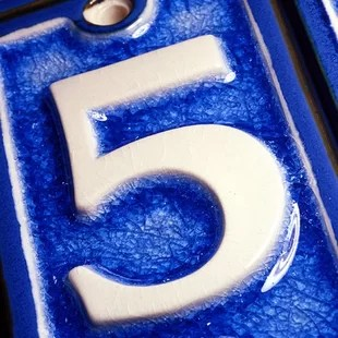 4 in tile house number