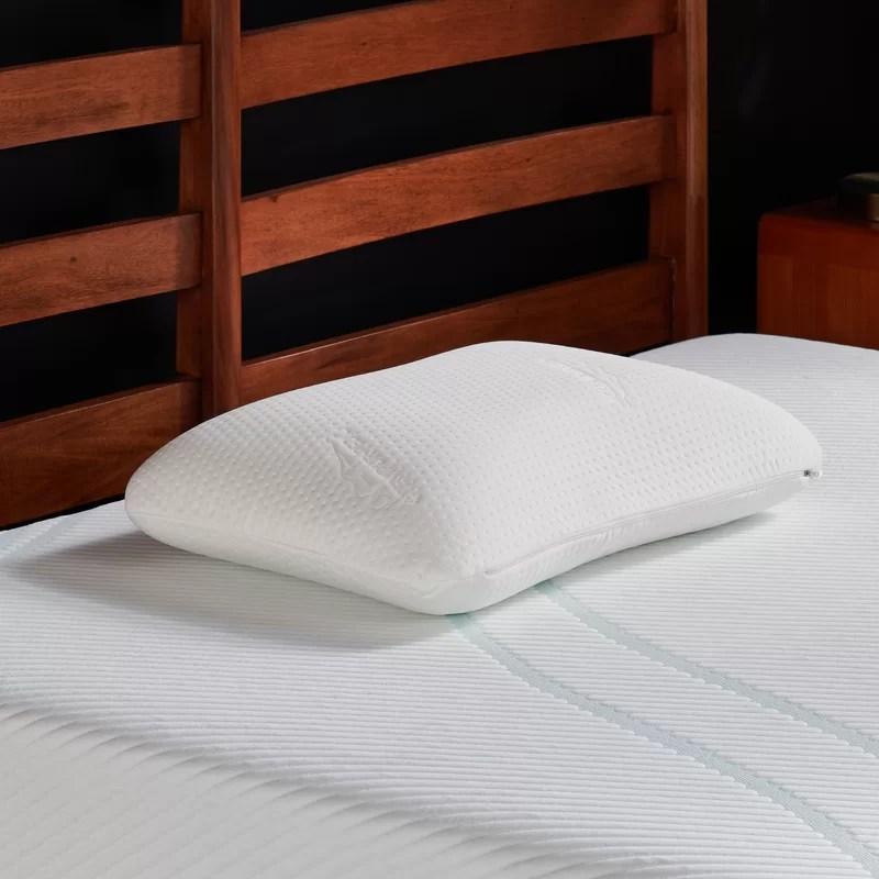 tempur symphony foam standard plush support pillow