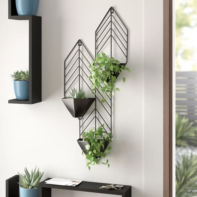 Regnier Iron Wall Planter & Reviews | AllModern on Iron Wall Vases id=50397
