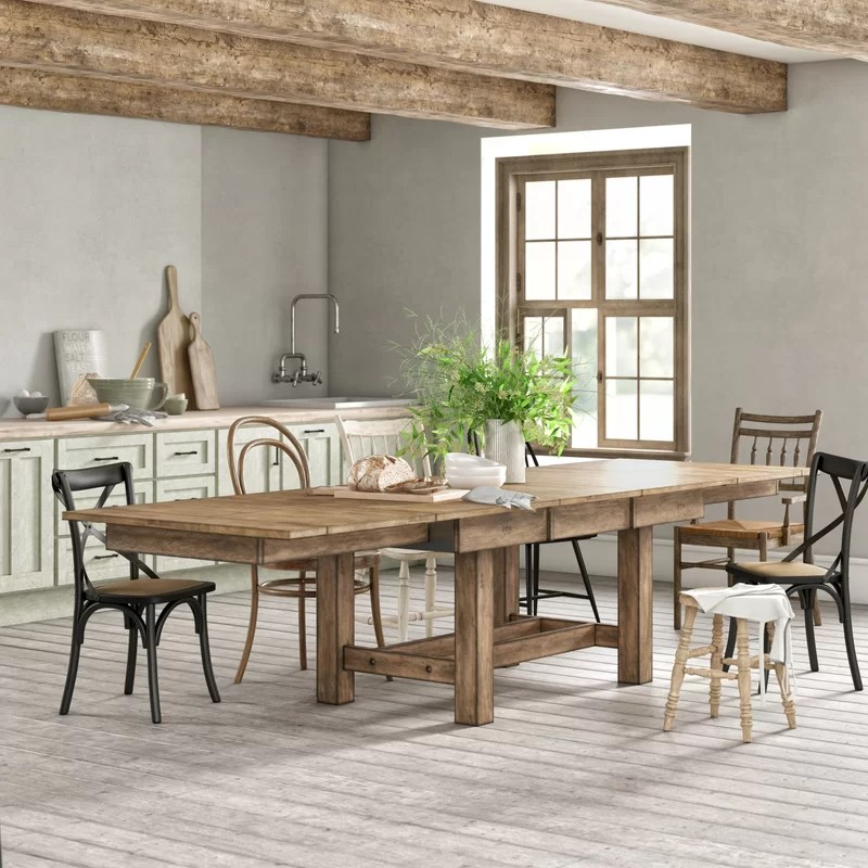 stuart extendable solid wood dining table reviews on solid wood dining table id=62426