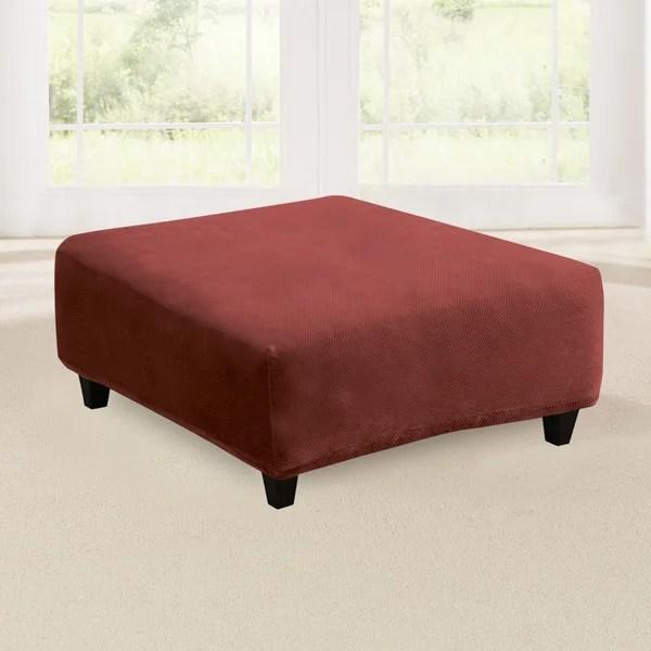 square ottoman slip cover