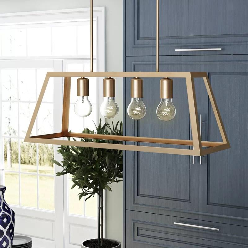 chastain 4 light kitchen island linear pendant