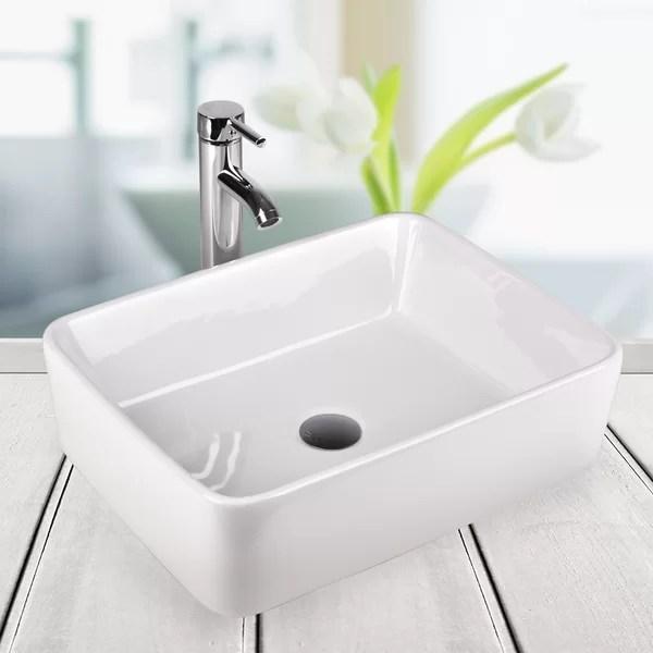 above counter bathroom sink