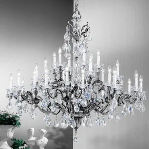 Via Firenze 30 Light Crystal Chandelier