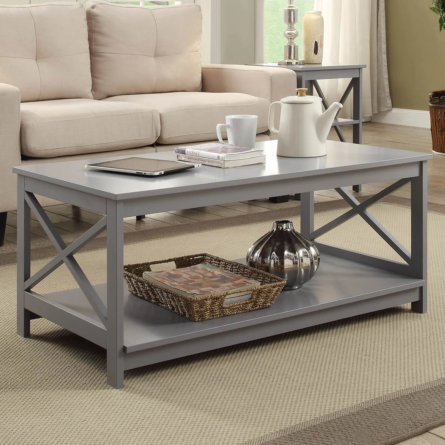grey coffee tables free shipping over