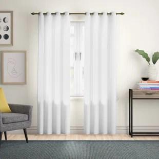 irene solid semi sheer thermal grommet single curtain panel