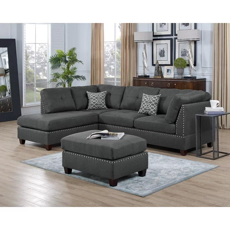 sunnydale 105 wide reversible sofa chaise with ottoman