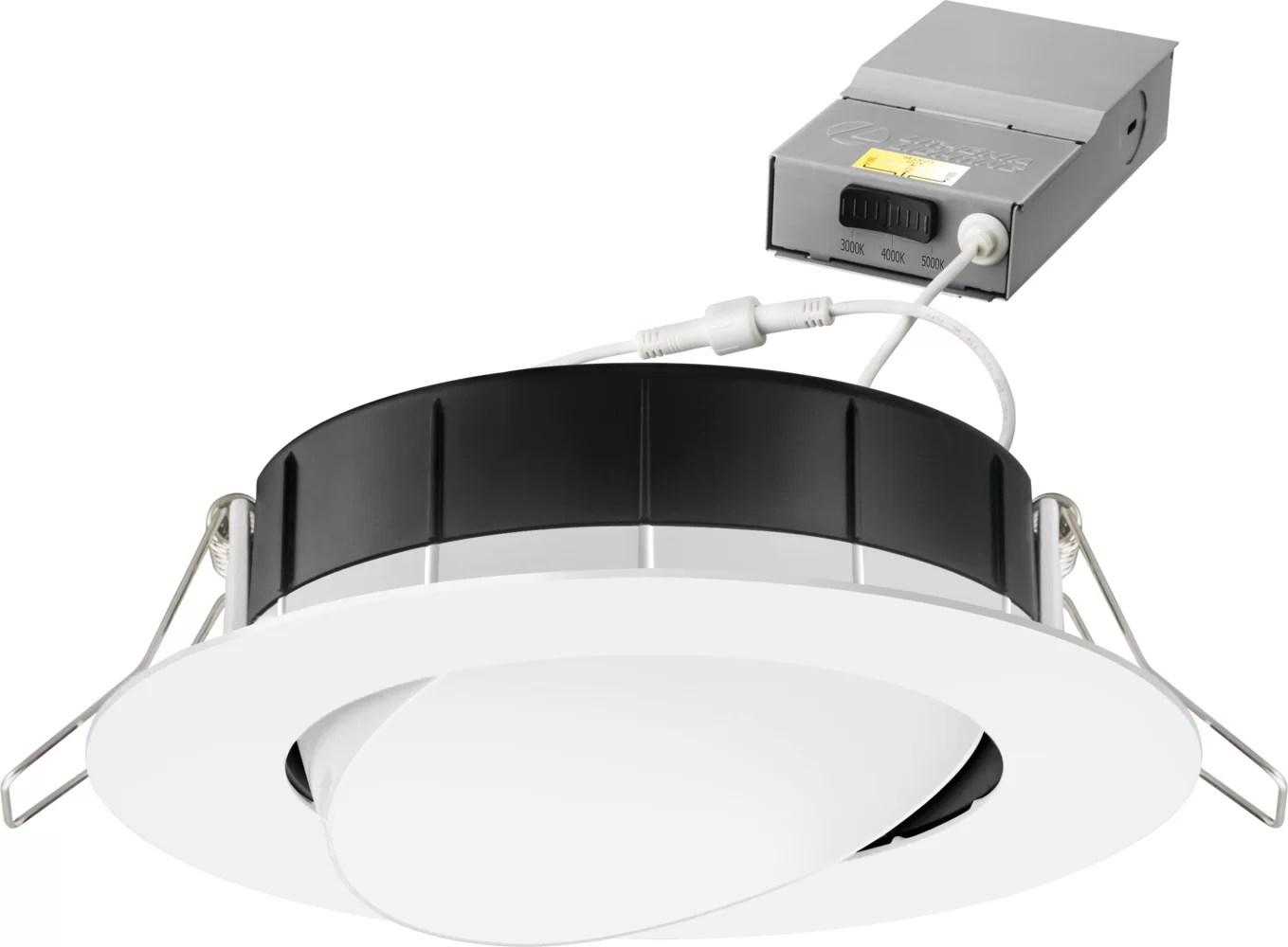 4 7 selectable remodel retrofit recessed lighting kit