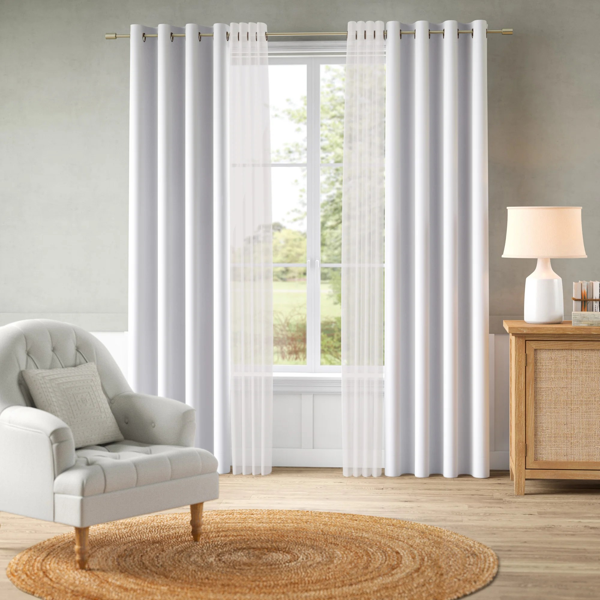 feaster solid blackout thermal grommet curtain panels