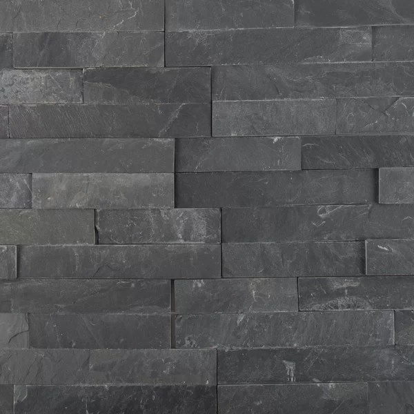 fireplace stacked stone tile