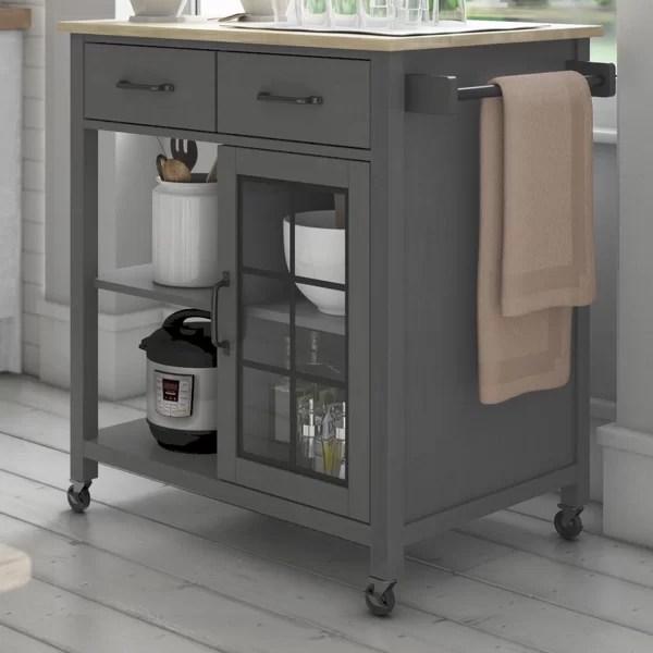 small narrow kitchen cart