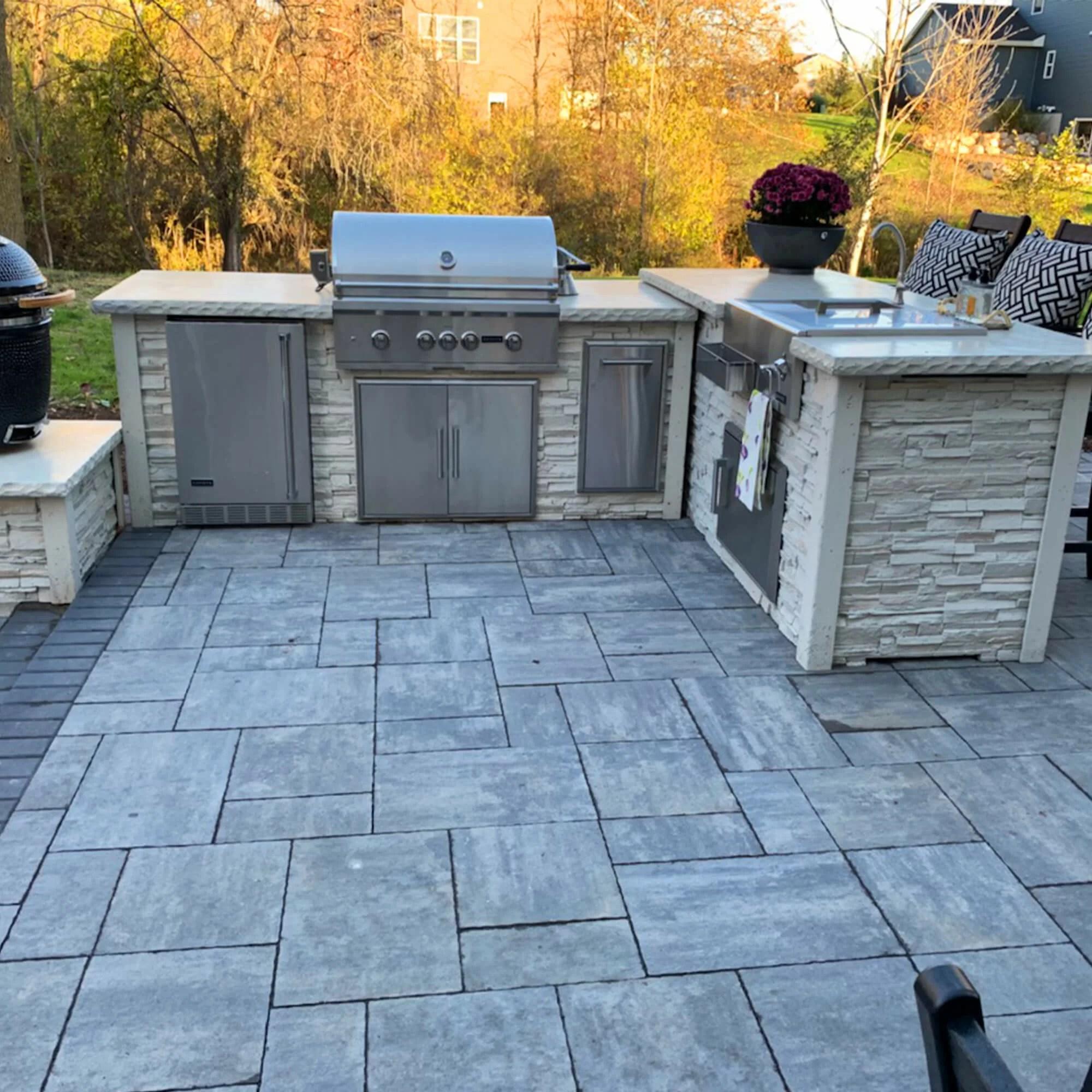 rta outdoor living 114 6 piece 5 burner bbq grill islands