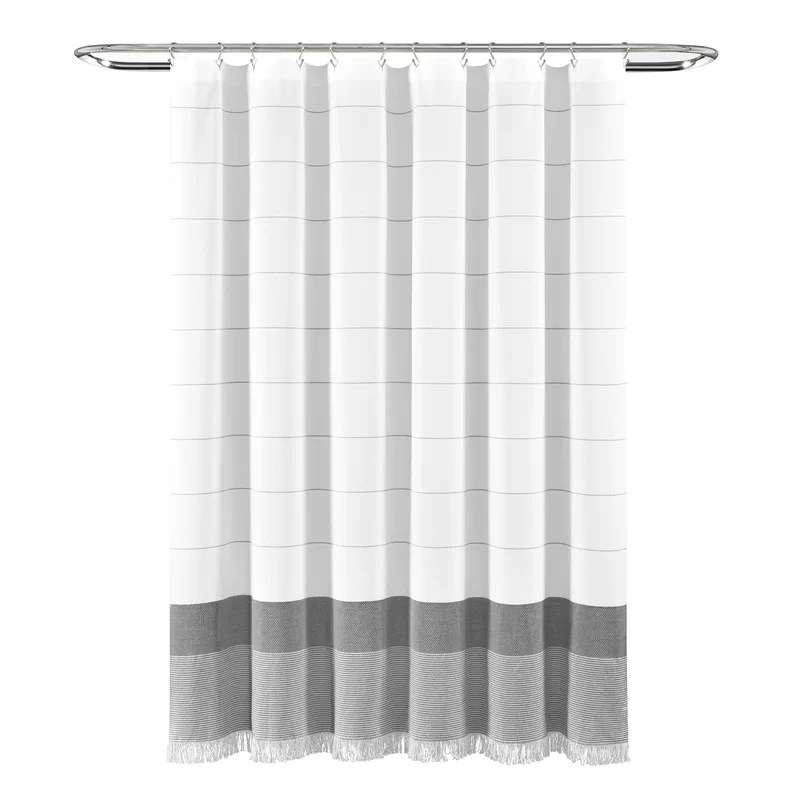 wainscott 100 cotton striped single shower curtain