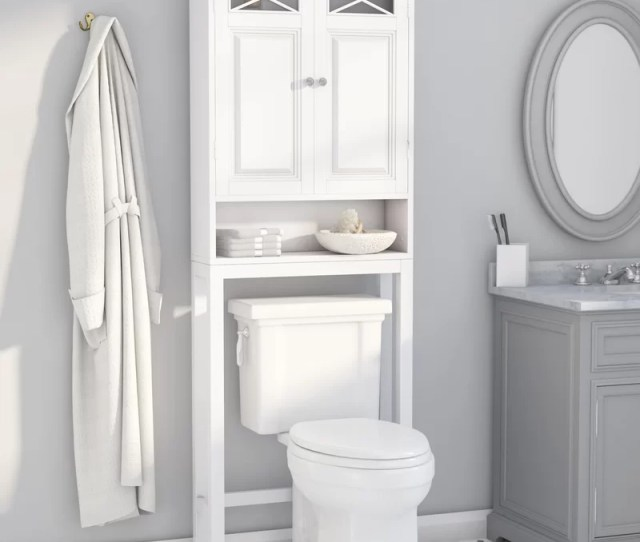 Rosecliff Heights Roberts 25 W X 68 H Over The Toilet Storage Reviews Wayfair