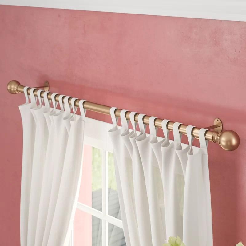 madison ball curtain drapery rod two