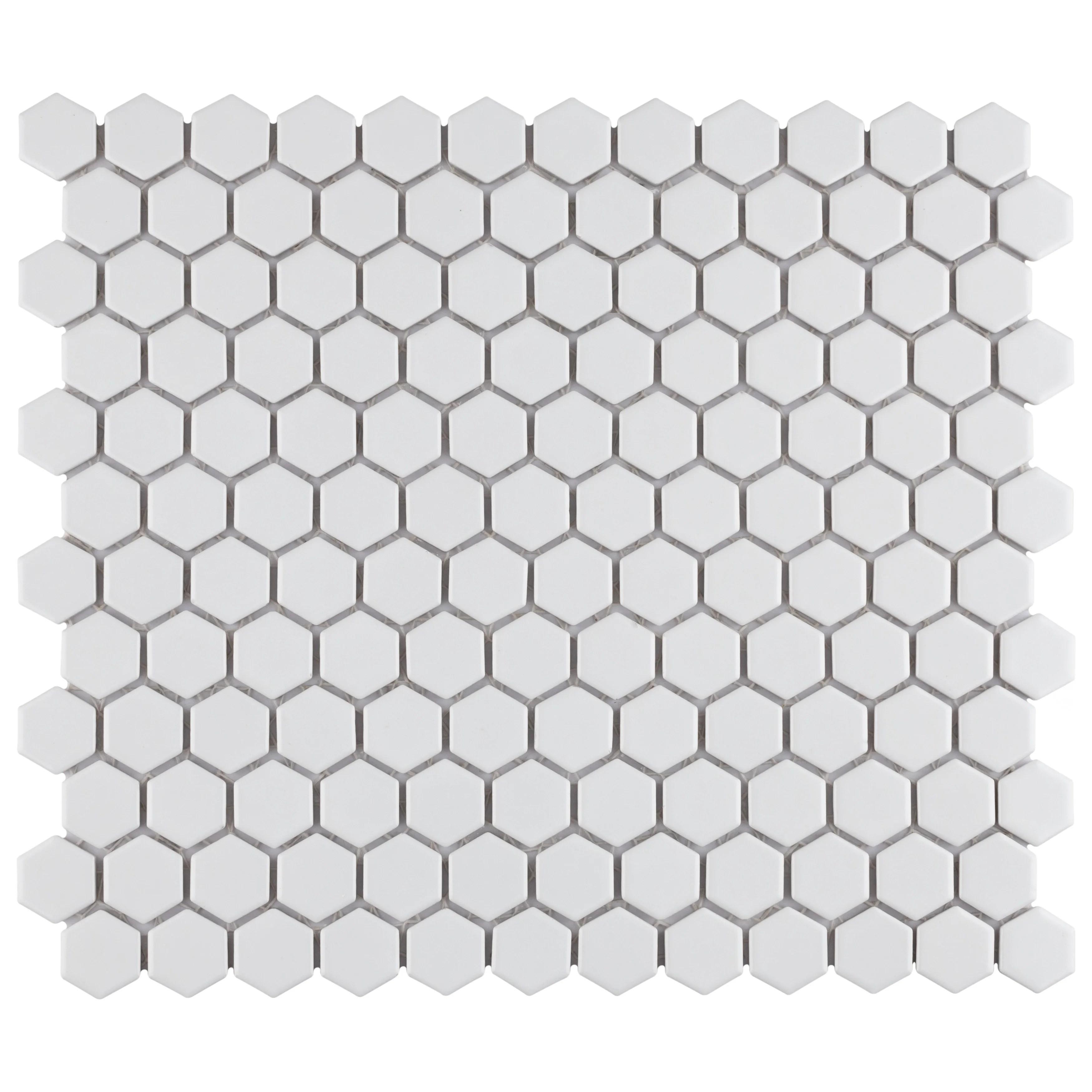 retro 1 x 1 porcelain mosaic wall floor tile