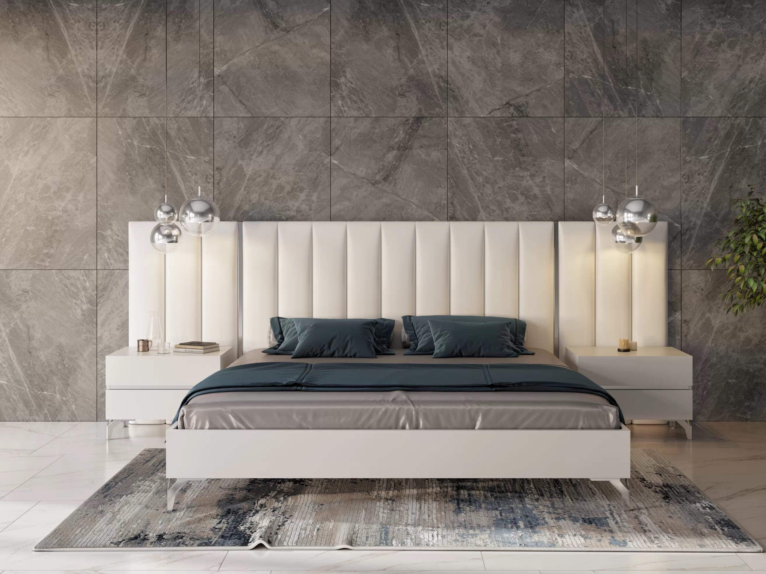 kayna italian modern platform 3 piece bedroom set