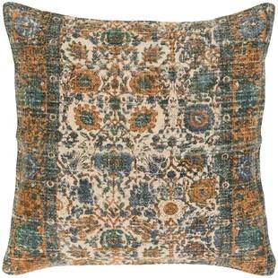 mersinlik distressed floral throw pillow cover