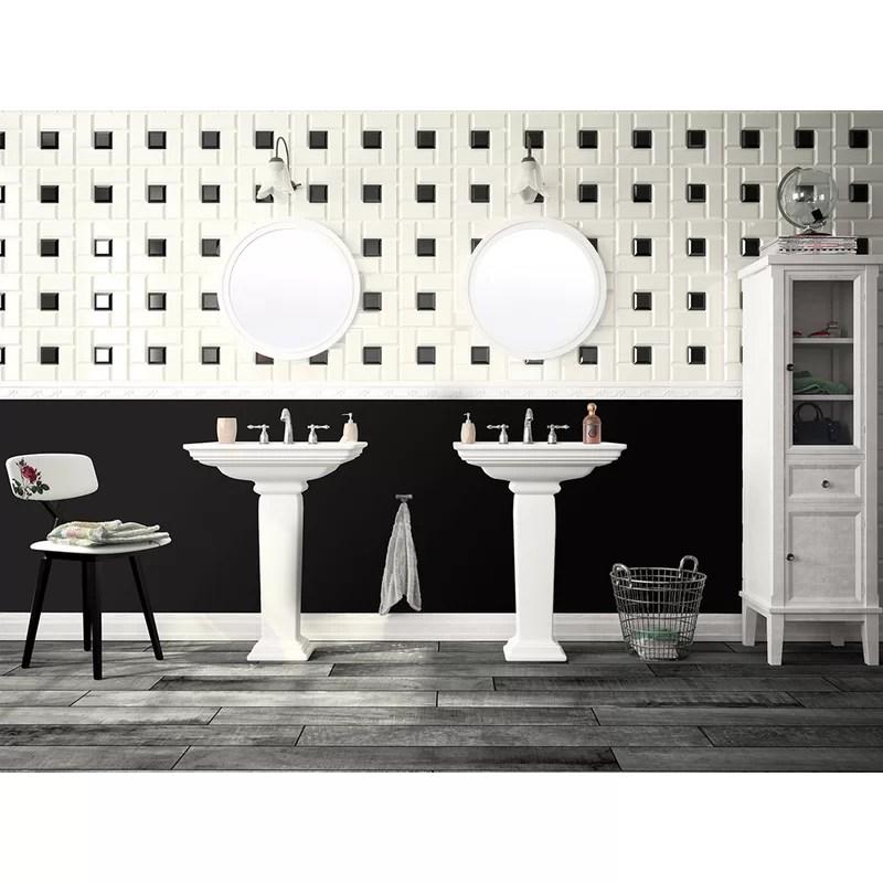 essentials 3 x 6 ceramic subway tile in white