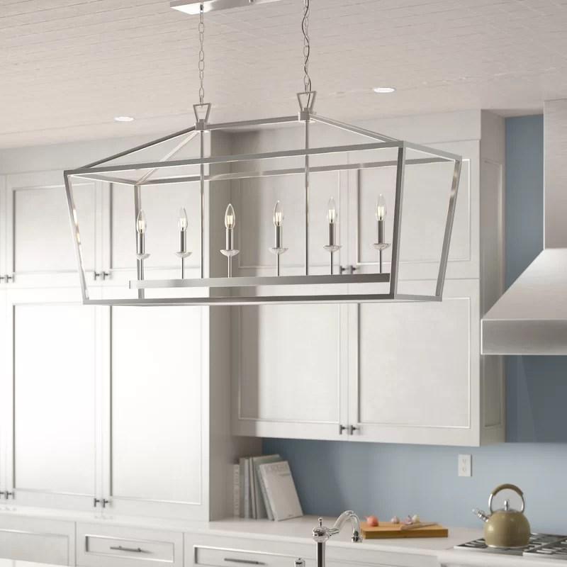 carmen 6 light kitchen island linear pendant