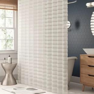 kareem striped single shower curtain