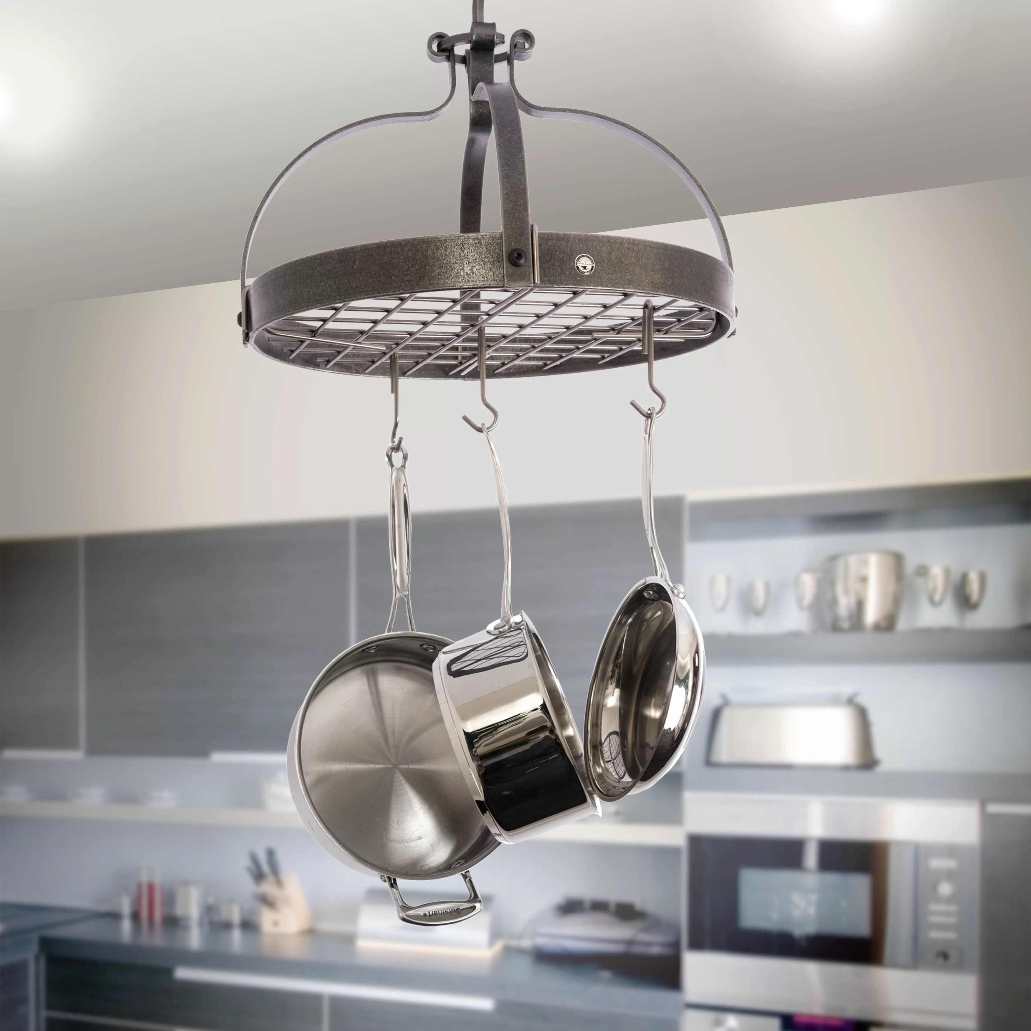 usa handcrafted gourmet dutch crown hanging pot rack